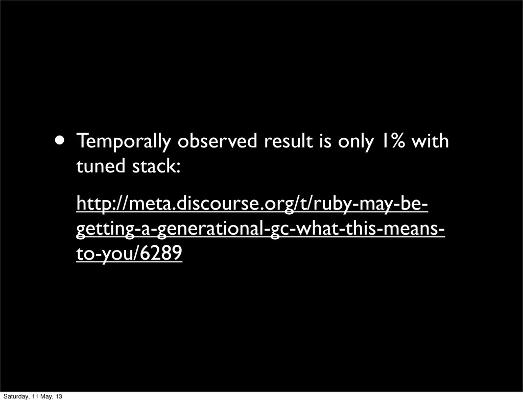 • Temporally observed result is only 1% with tu...