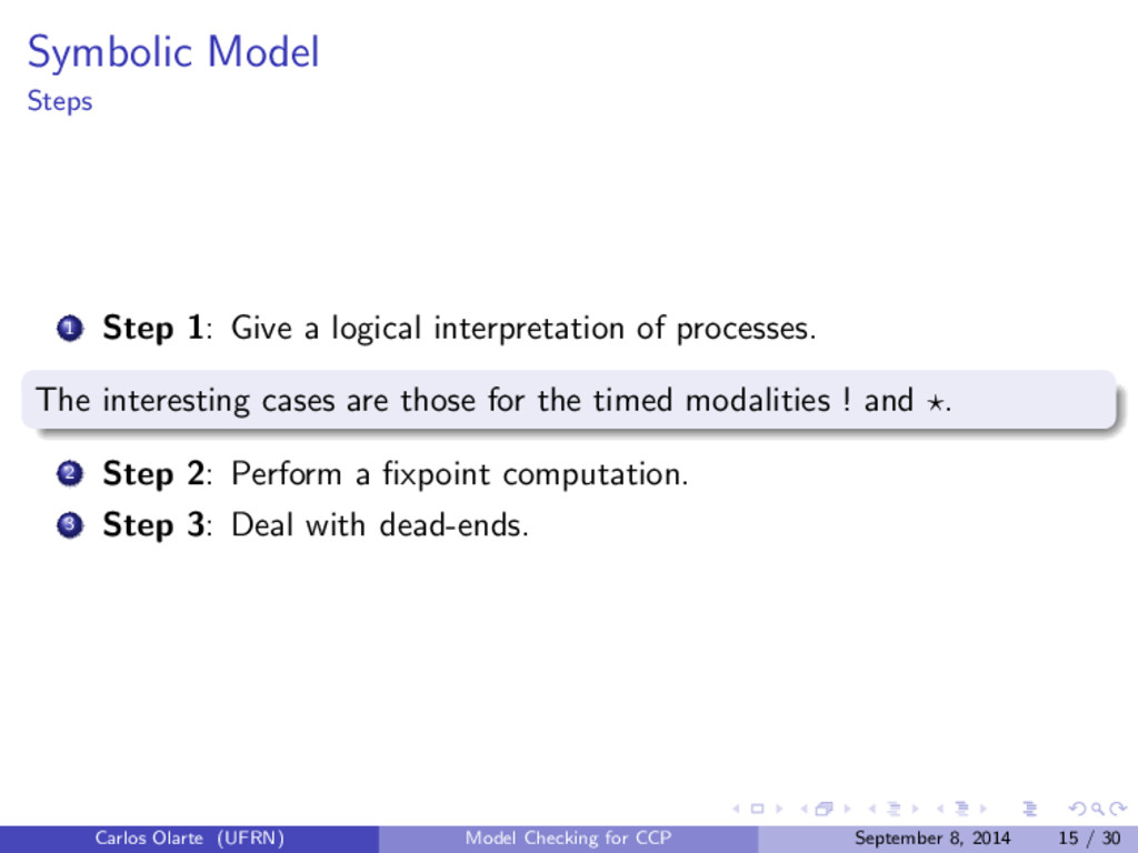 Symbolic Model Steps 1 Step 1: Give a logical i...