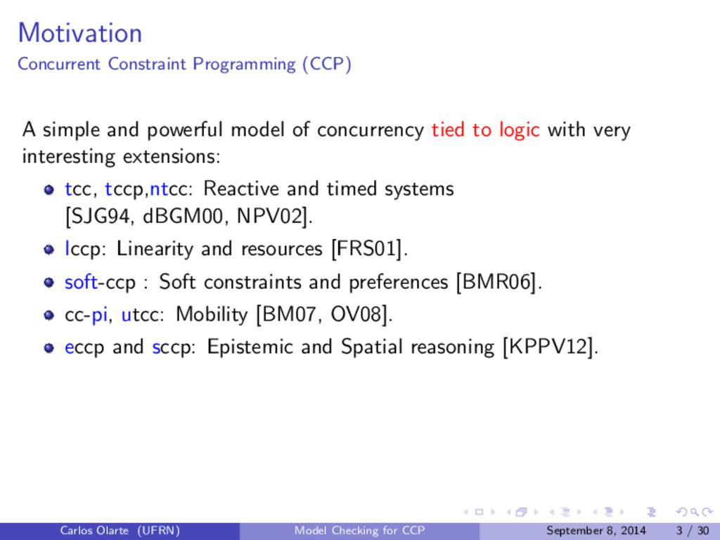 Motivation Concurrent Constraint Programming (C...
