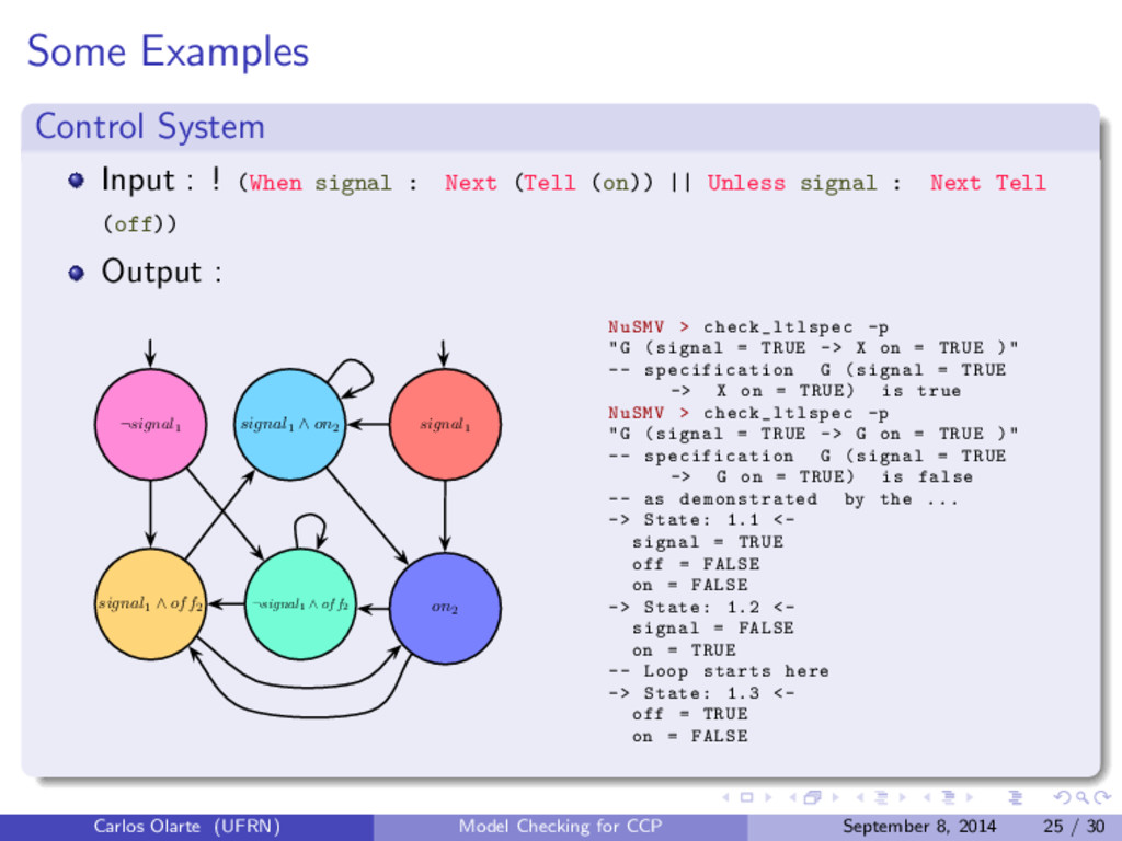 Some Examples Control System Input : ! (When si...