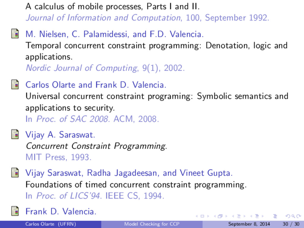 A calculus of mobile processes, Parts I and II....