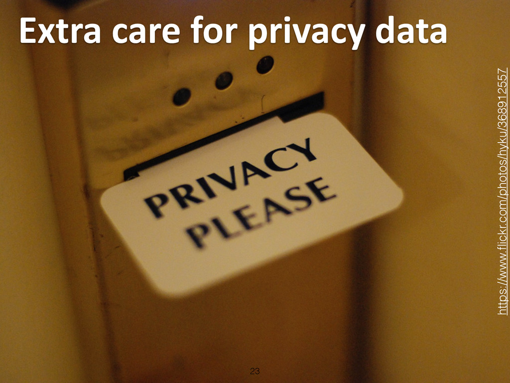 Extra care for privacy data 23 http...