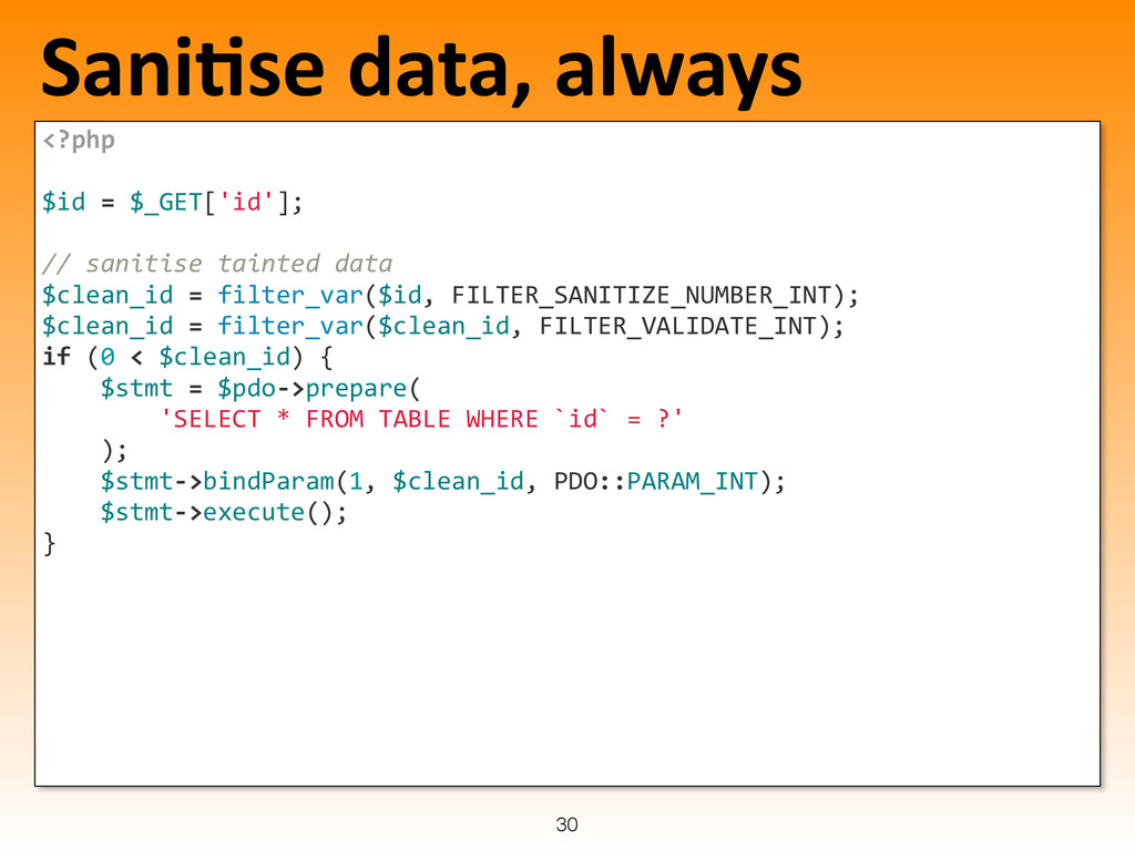 SaniLse data, always <?php     $...