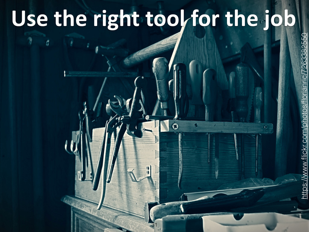 Use the right tool for the jo...