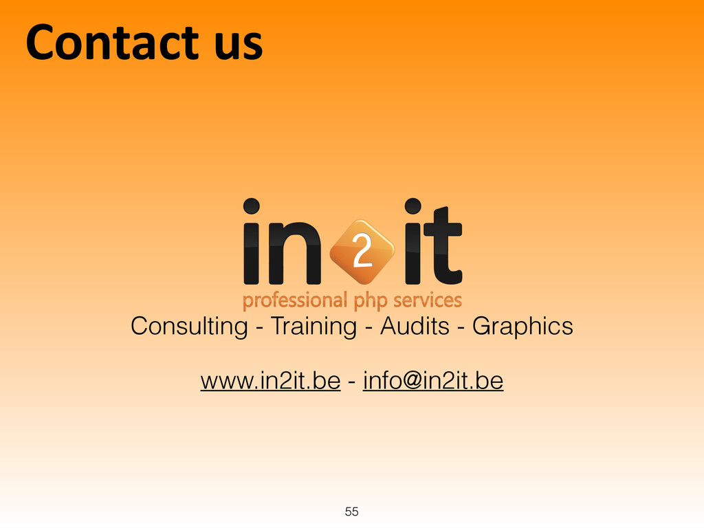 Contact us 55 Consulting - Training - Audits...