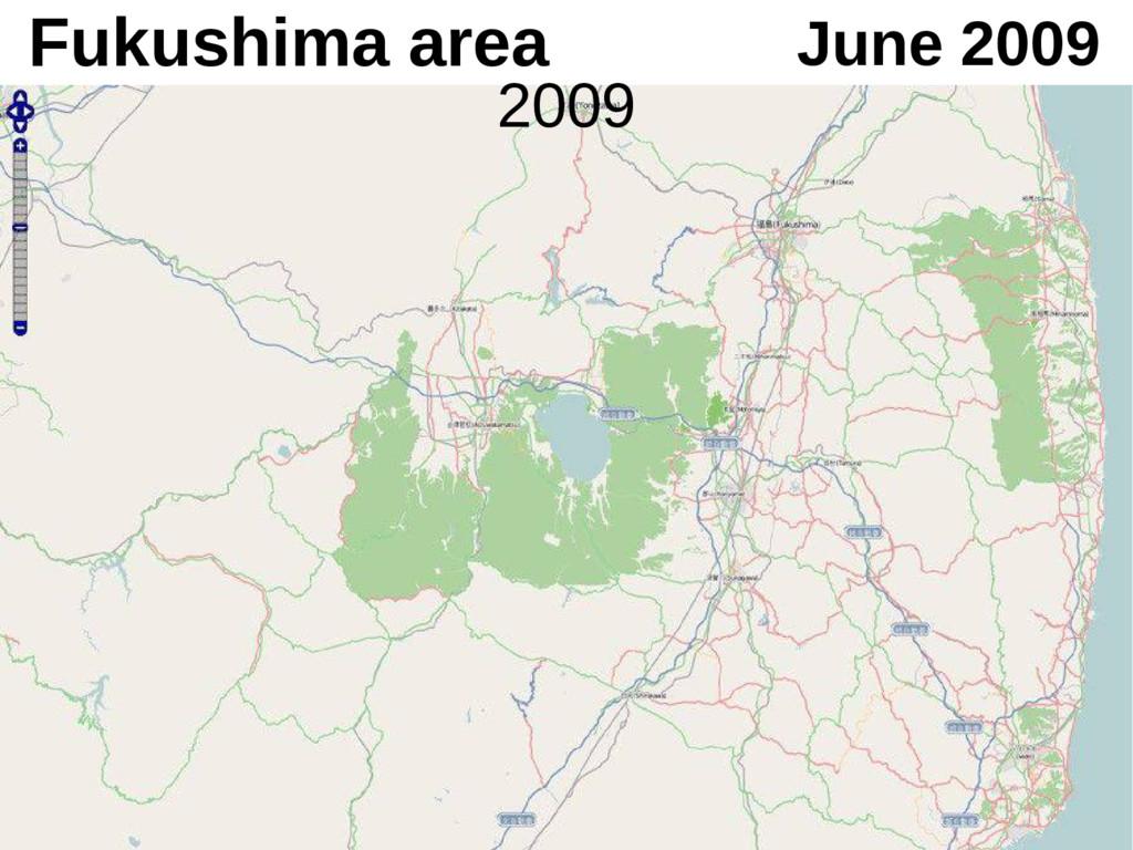 Fukushima area June 2009 2009