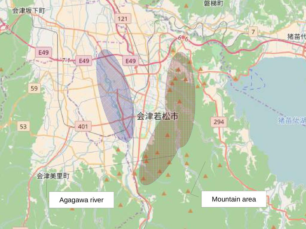 Mountain area Agagawa river