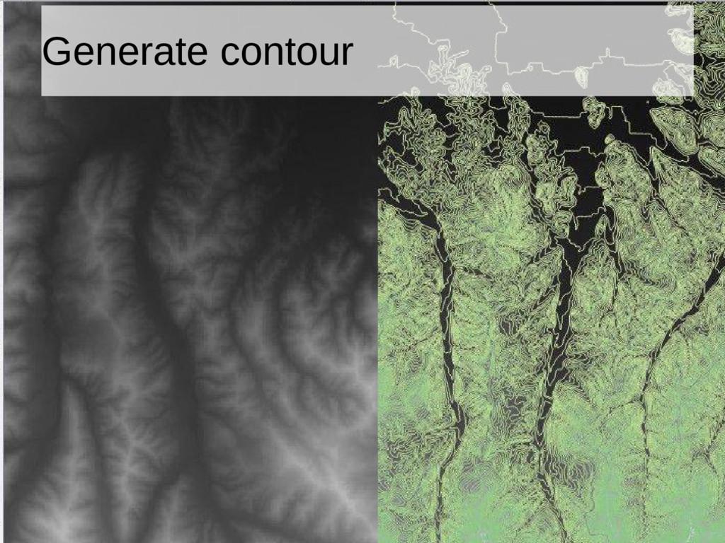 Generate contour