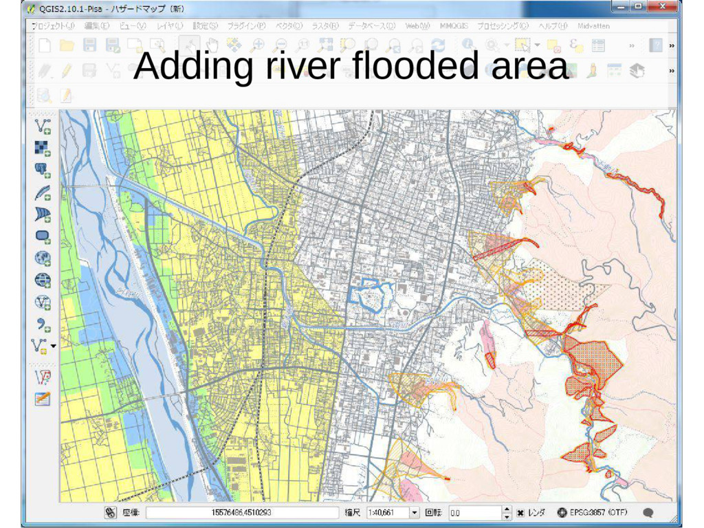 Adding river flooded area