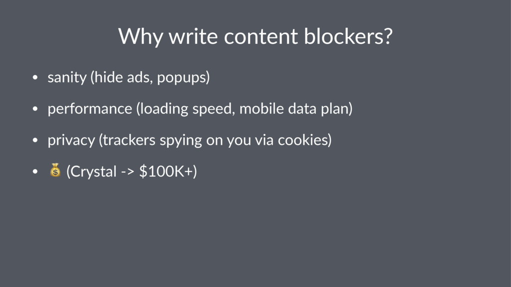 Why$write$content$blockers? • sanity((hide(ads,...