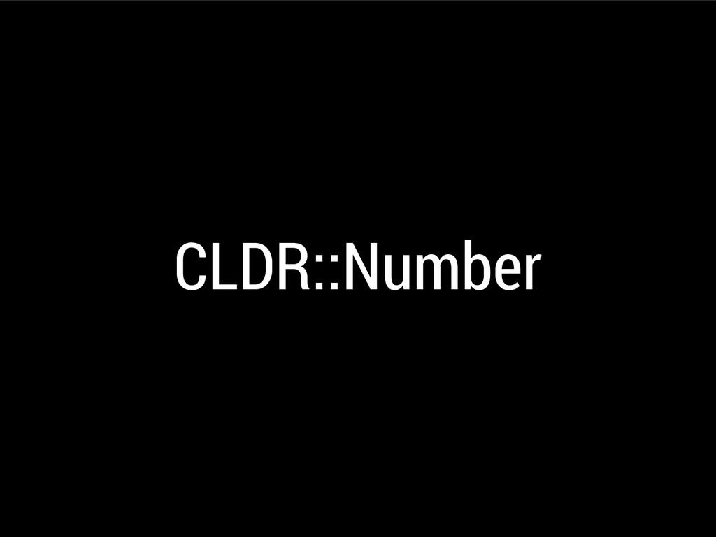 CLDR::Number