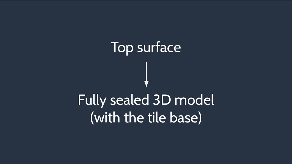 Top surface Fully sealed 3D model (with the til...