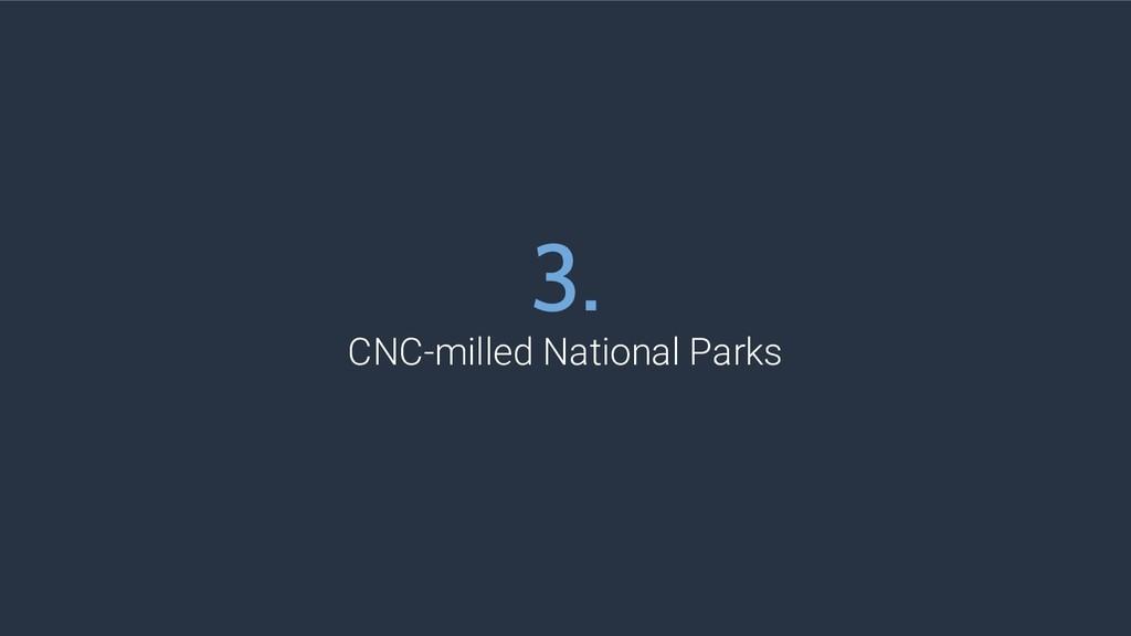 3. CNC-milled National Parks