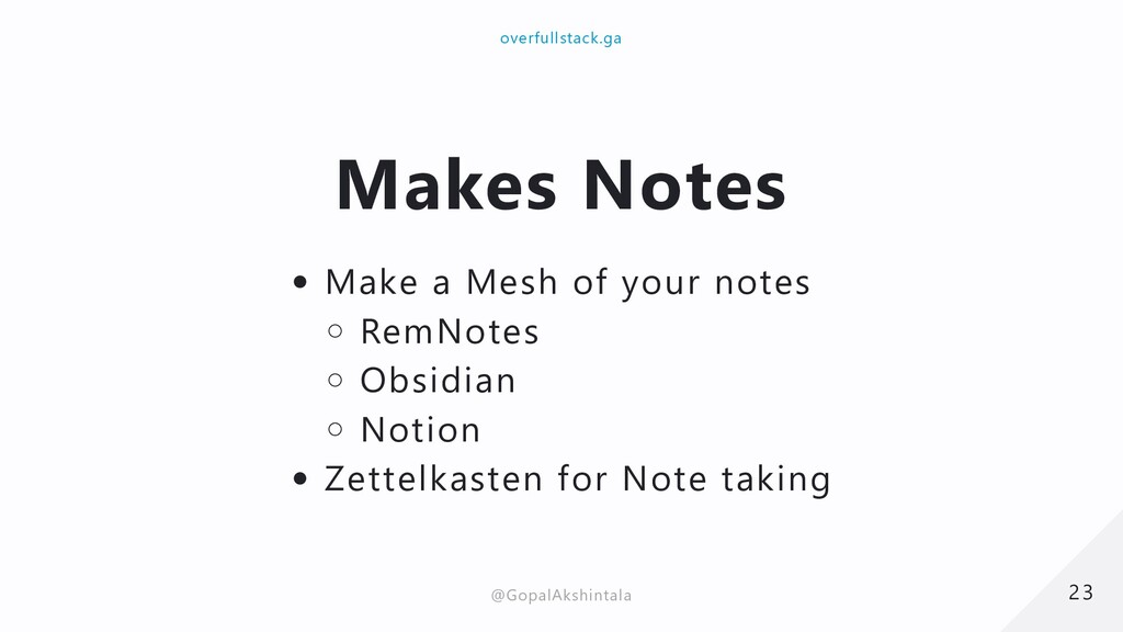 Makes Notes Make a Mesh of your notes RemNotes ...