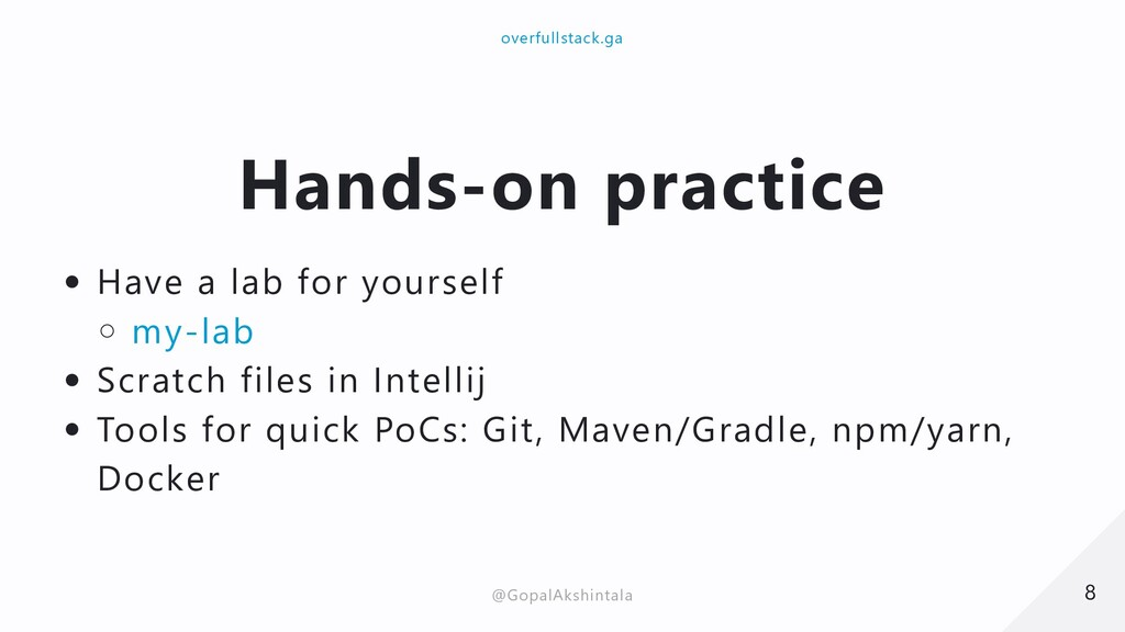 Hands-on practice Have a lab for yourself my-la...