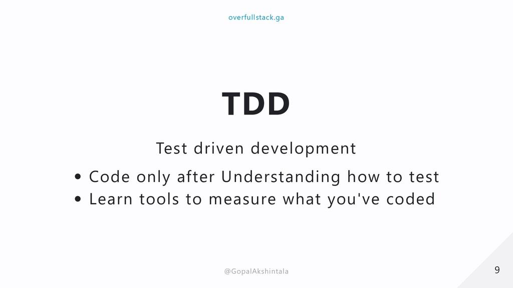 TDD Test driven development Code only after Und...