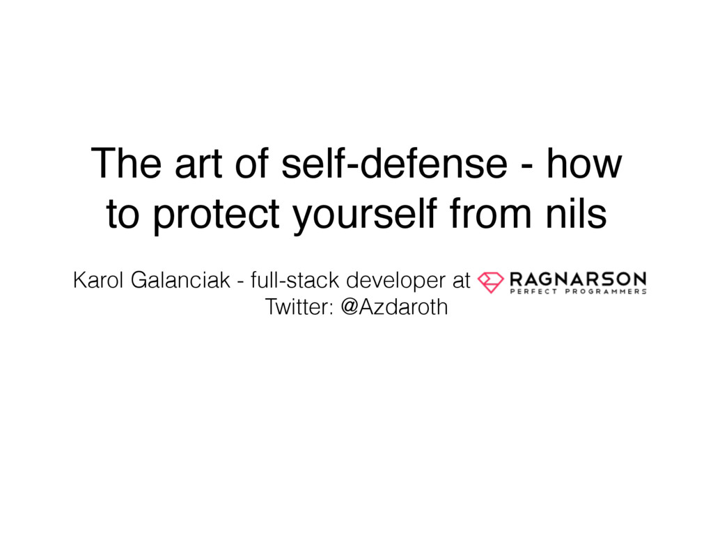 The art of self-defense - how to protect yourse...