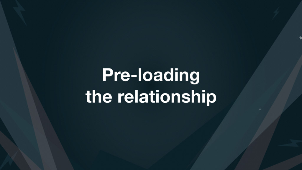 Pre-loading the relationship