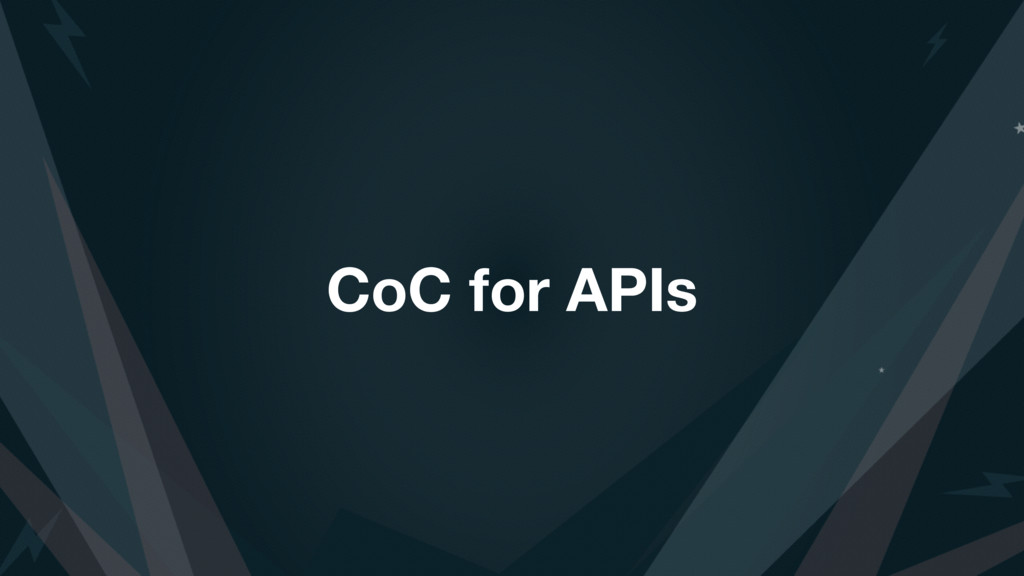 CoC for APIs
