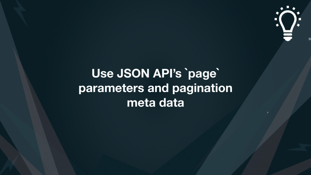 Use JSON API's `page` parameters and pagination...