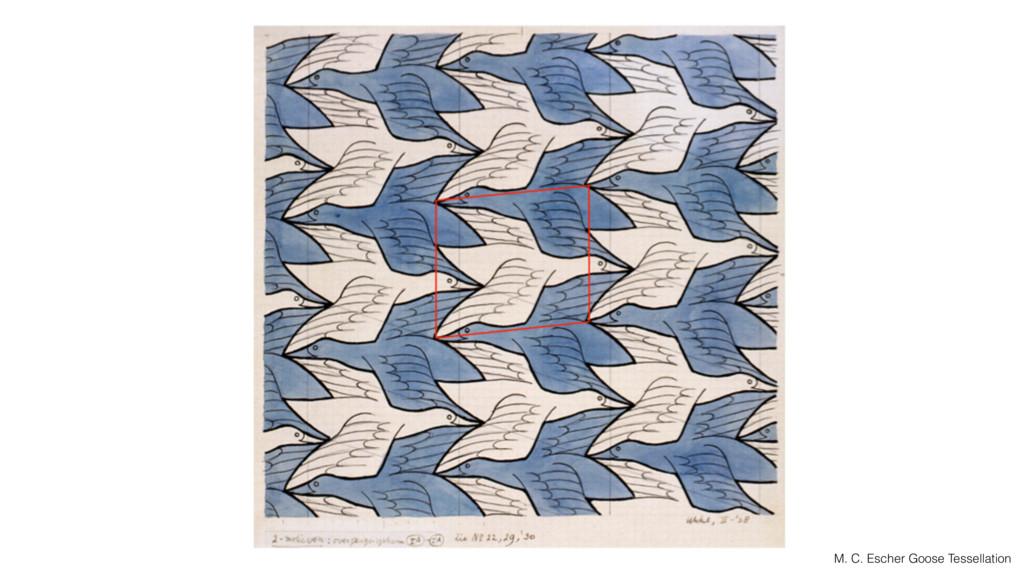 M. C. Escher Goose Tessellation