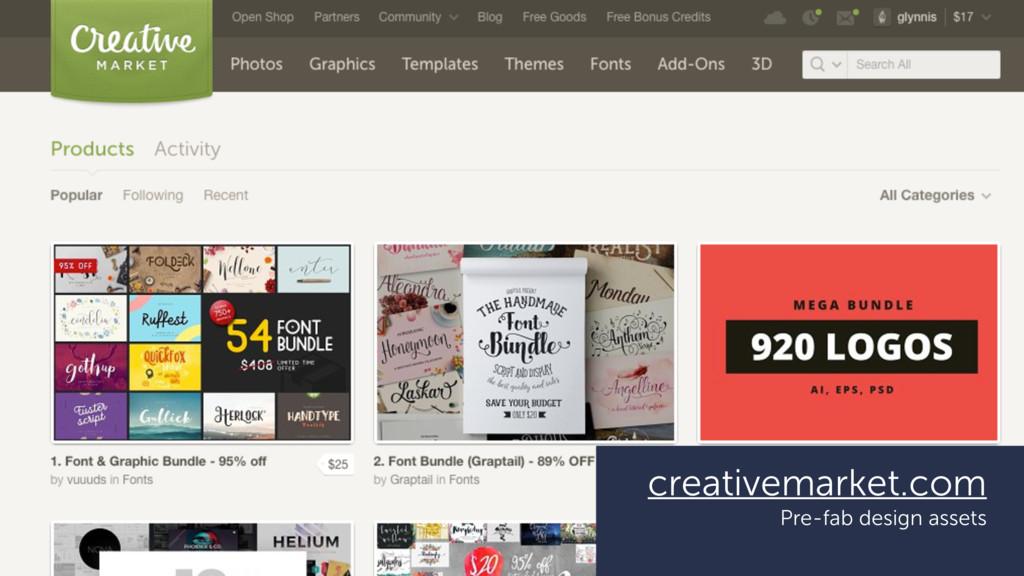 creativemarket.com Pre-fab design assets