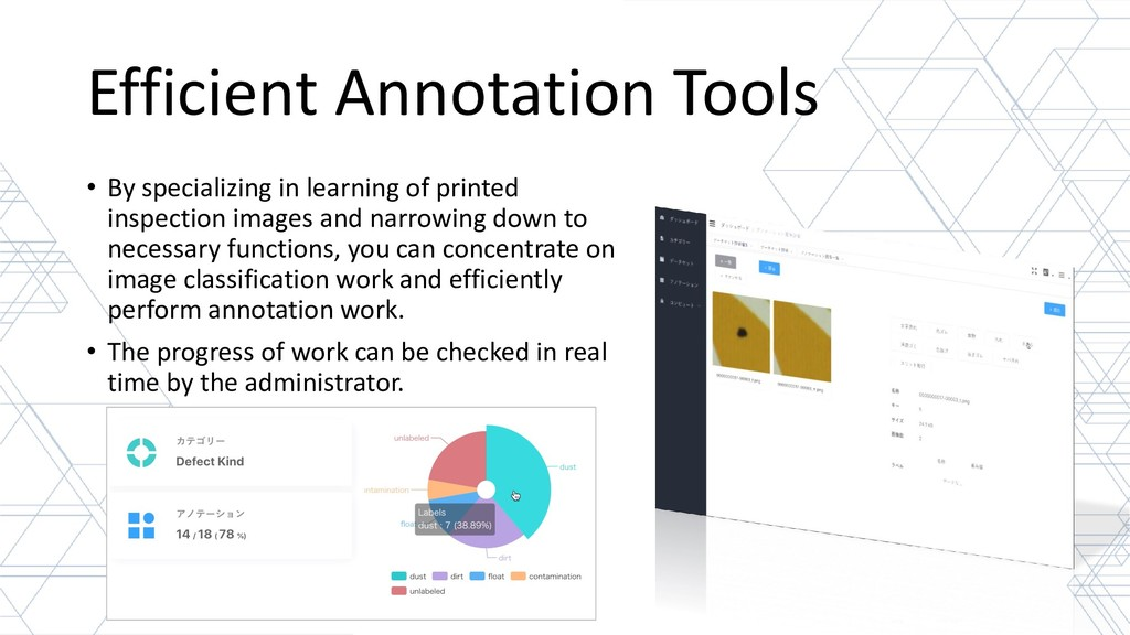 Efficient Annotation Tools • By specializing in...