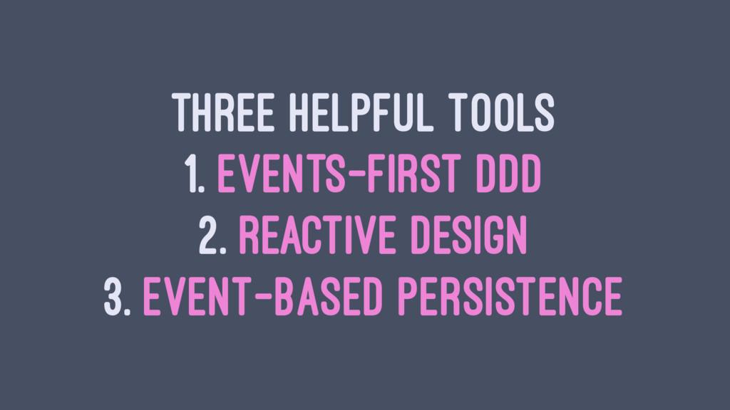 THREE HELPFUL TOOLS 1. EVENTS-FIRST DDD 2. REAC...