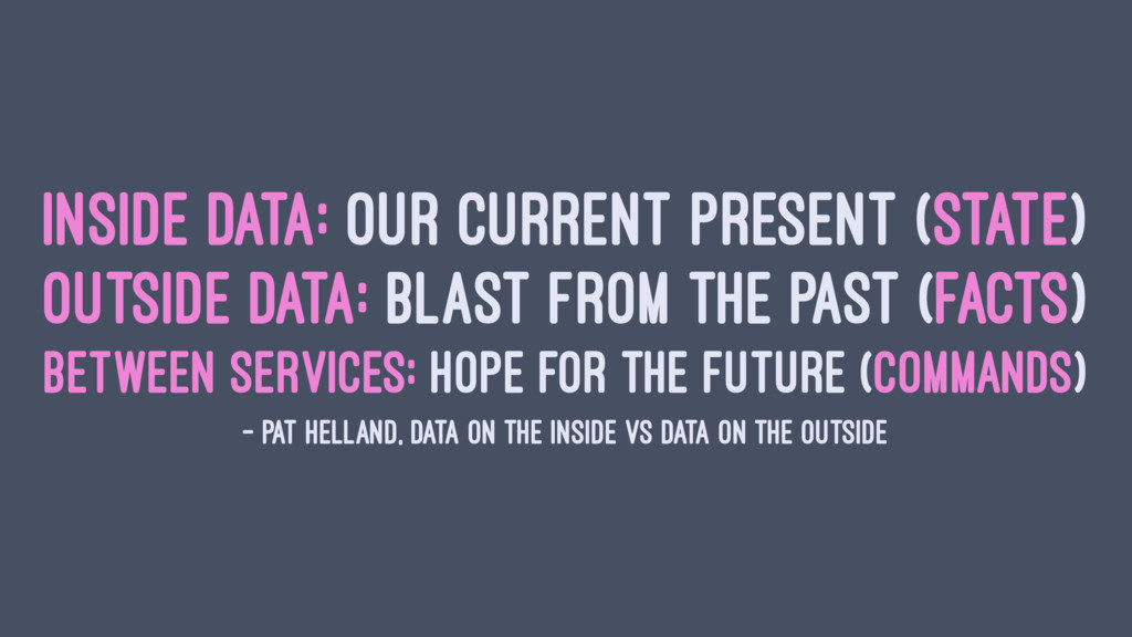 INSIDE DATA: OUR CURRENT PRESENT (STATE) OUTSID...