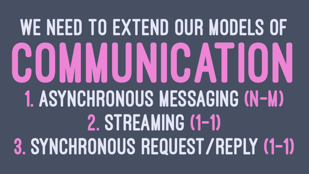 WE NEED TO EXTEND OUR MODELS OF COMMUNICATION 1...