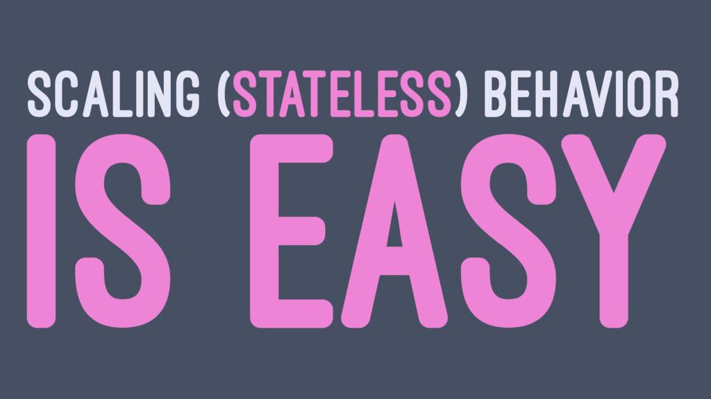 SCALING (STATELESS) BEHAVIOR IS EASY