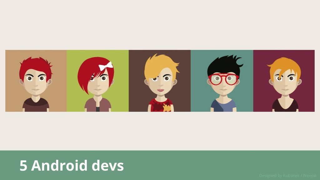 5 Android devs Designed by Kubanek / Freepik