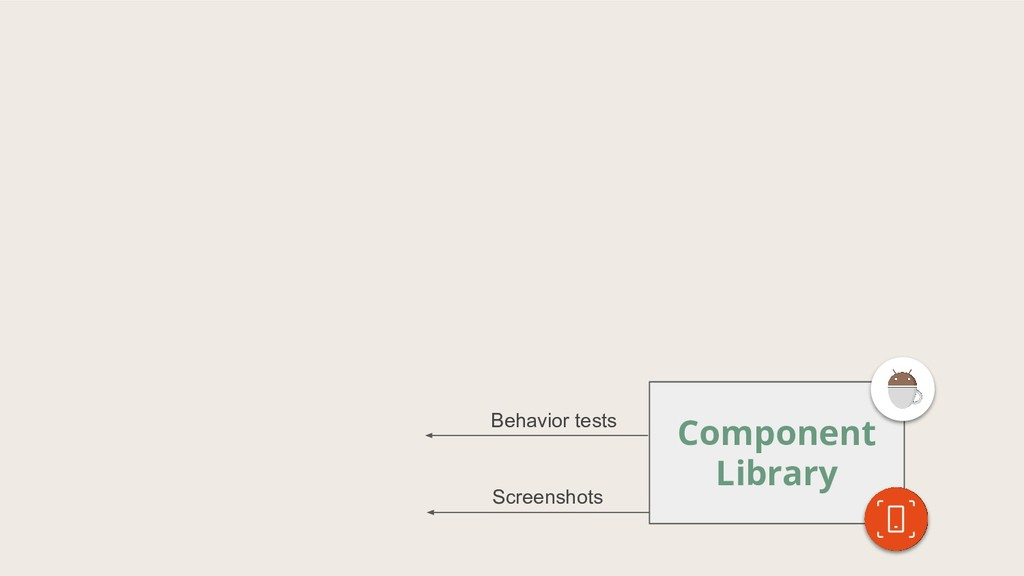 Component Library Screenshots Behavior tests