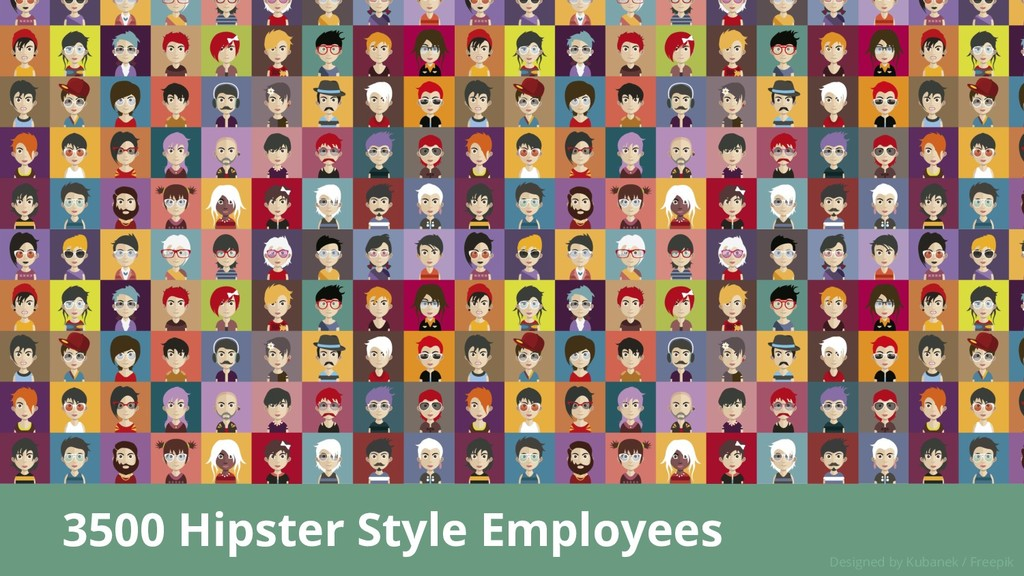 3500 Hipster Style Employees Designed by Kubane...