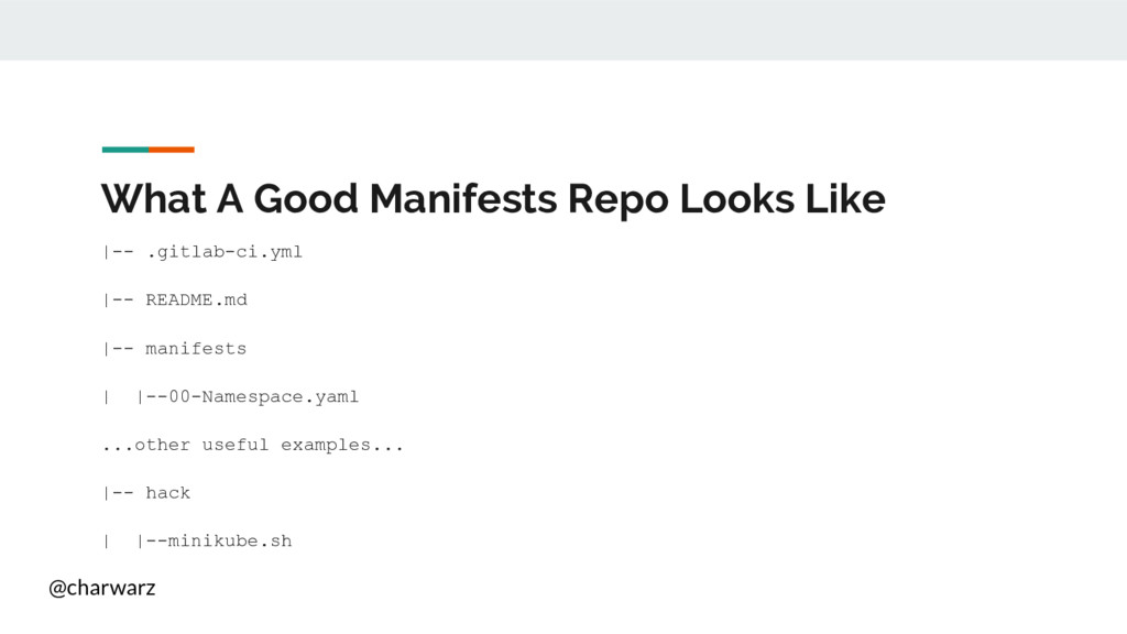 @charwarz What A Good Manifests Repo Looks Like...