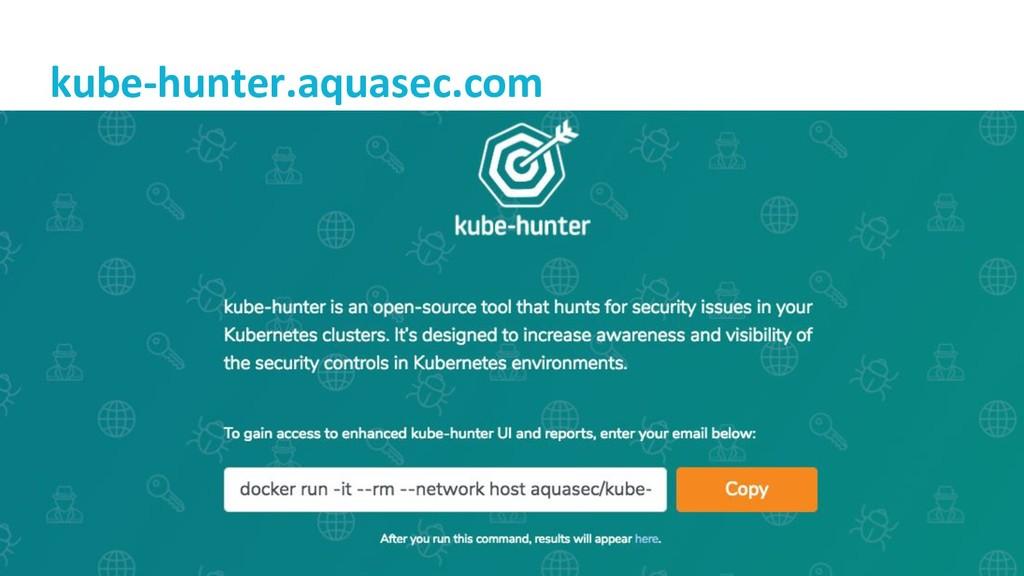 @lizrice kube-hunter.aquasec.com