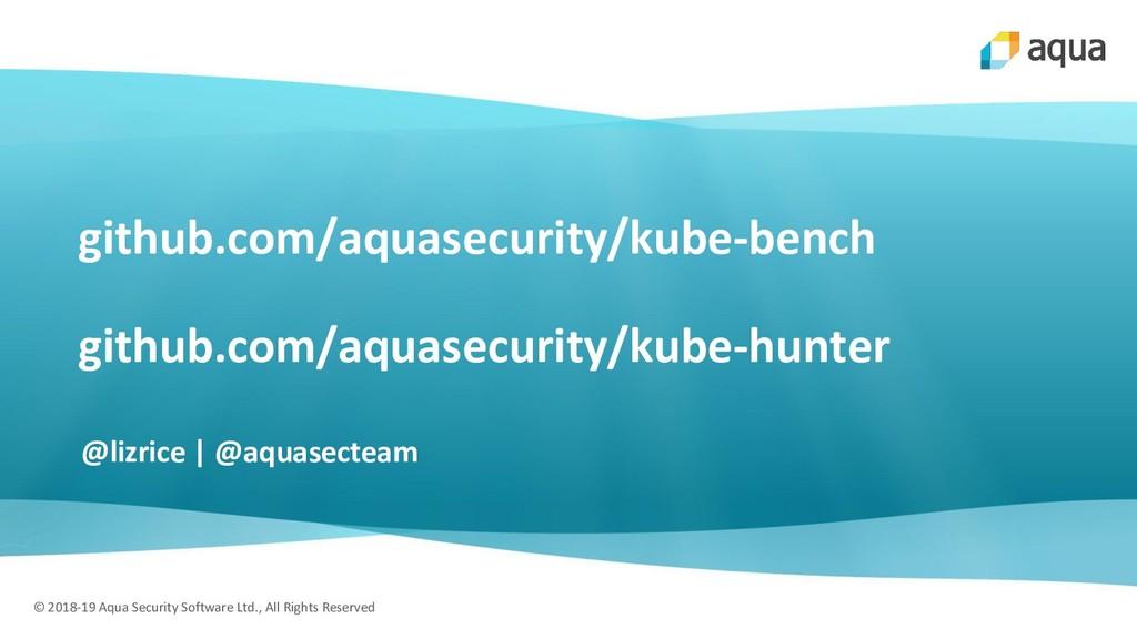 © 2018-19 Aqua Security Software Ltd., All Righ...