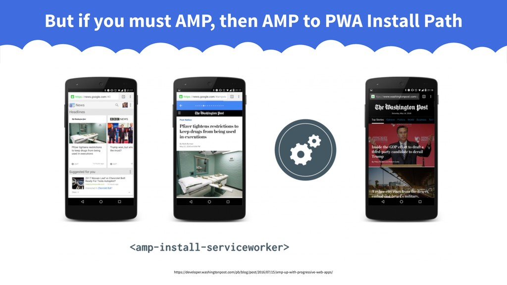 But if you must AMP, then AMP to PWA Install Pa...