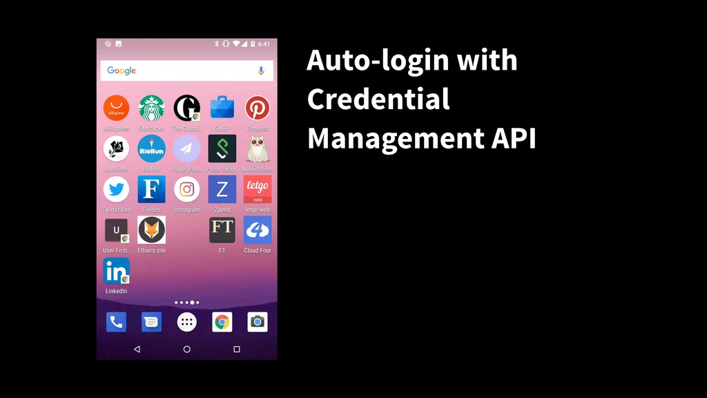 Auto-login with Credential Management API