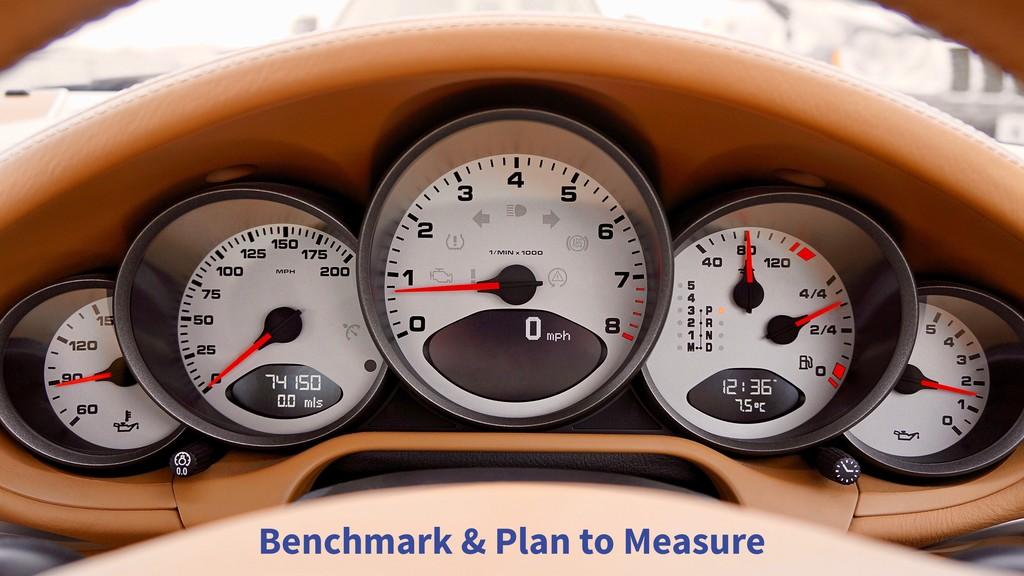 Benchmark & Plan to Measure