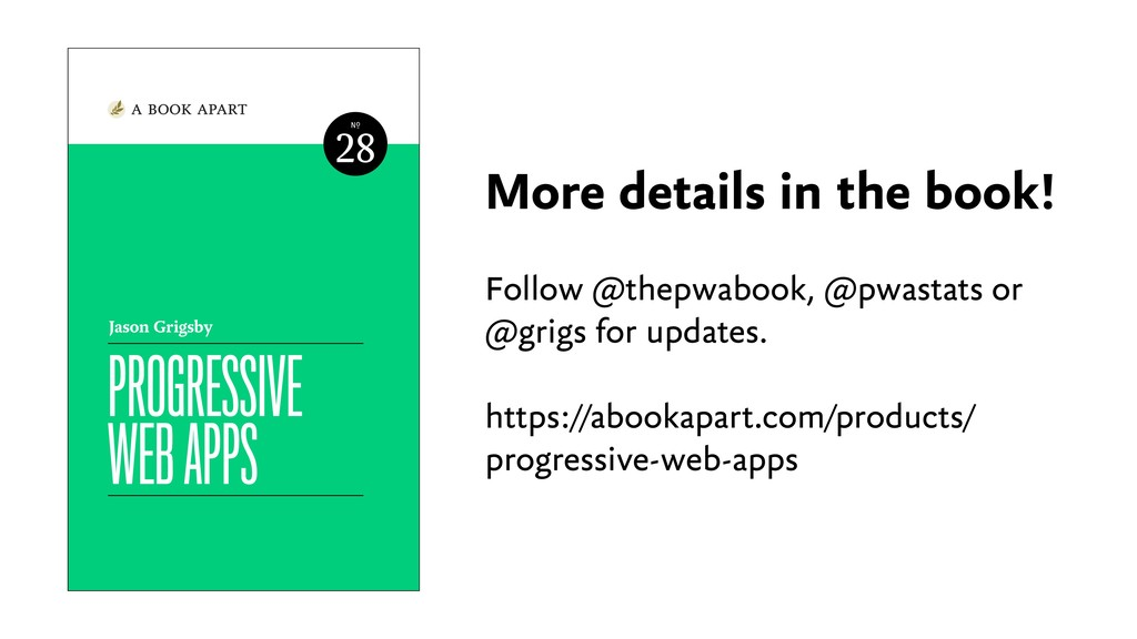 More details in the book! Follow @thepwabook, @...