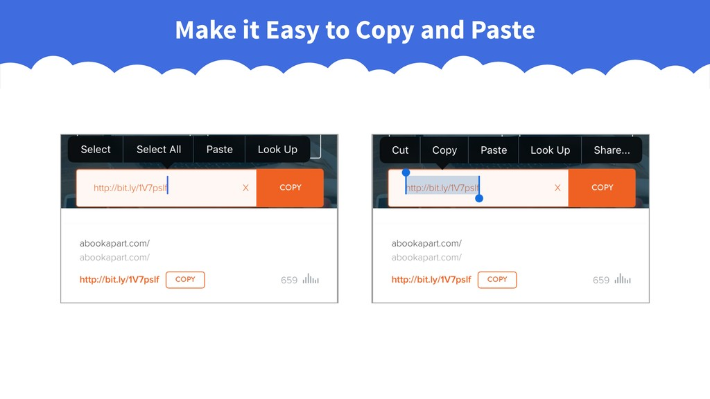 Make it Easy to Copy and Paste