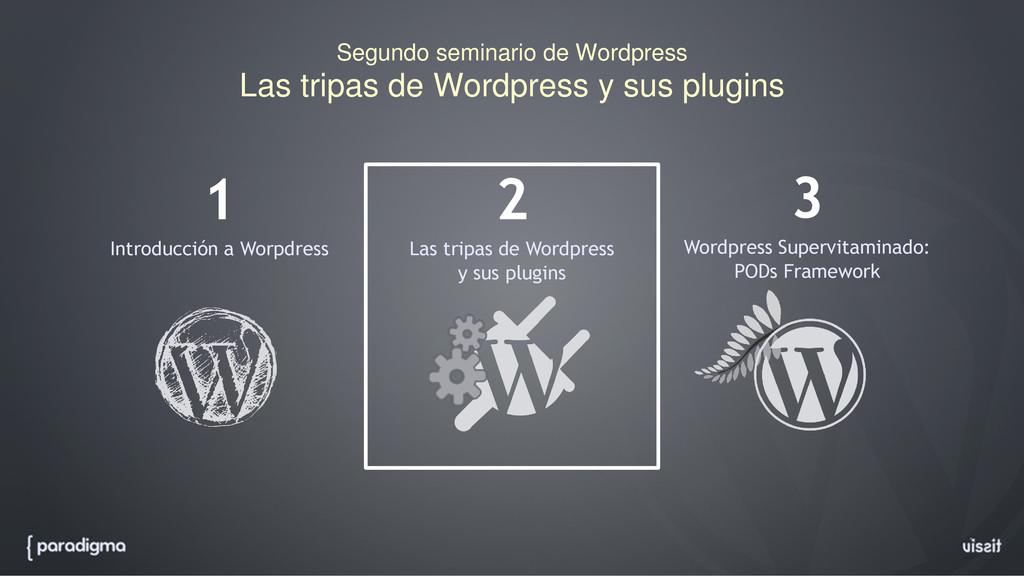 Segundo seminario de Wordpress Las tripas de Wo...