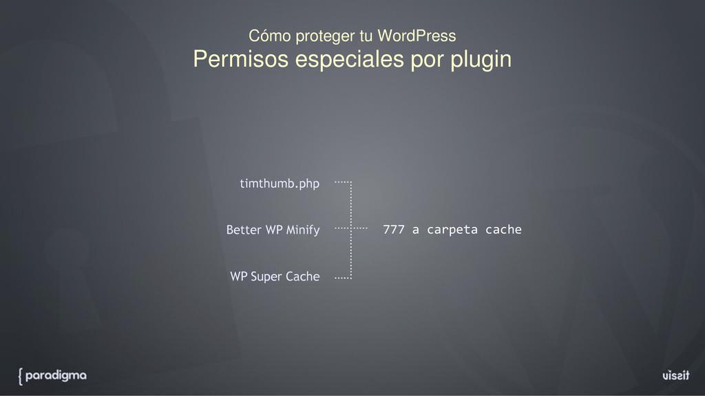 Cómo proteger tu WordPress Permisos especiales ...