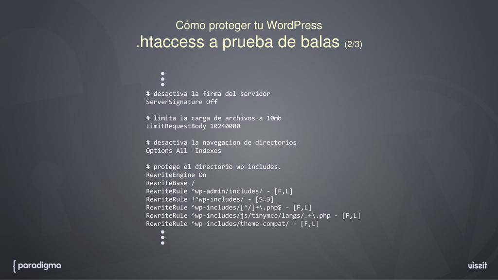 Cómo proteger tu WordPress .htaccess a prueba d...