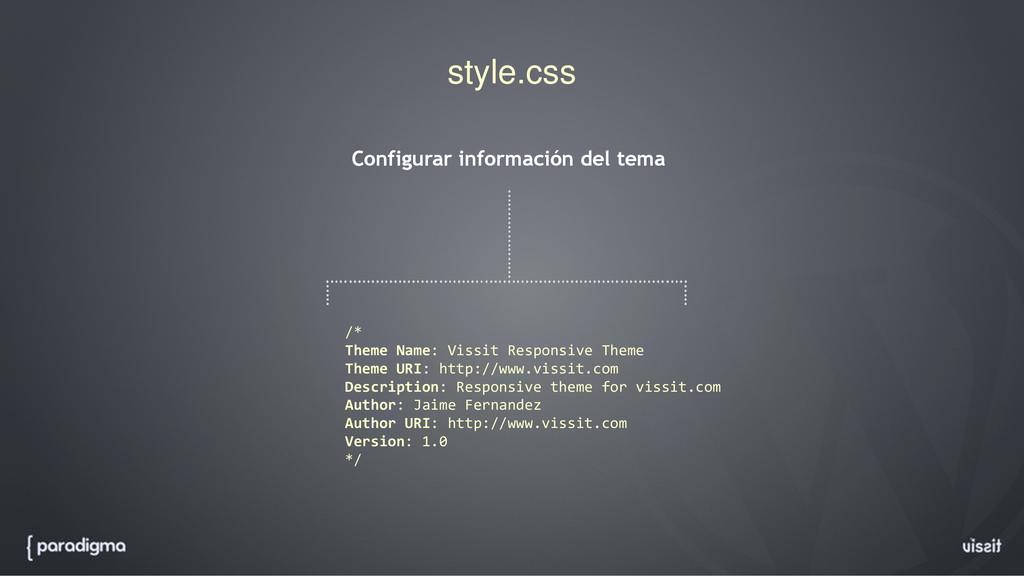 style.css Configurar información del tema /* Th...