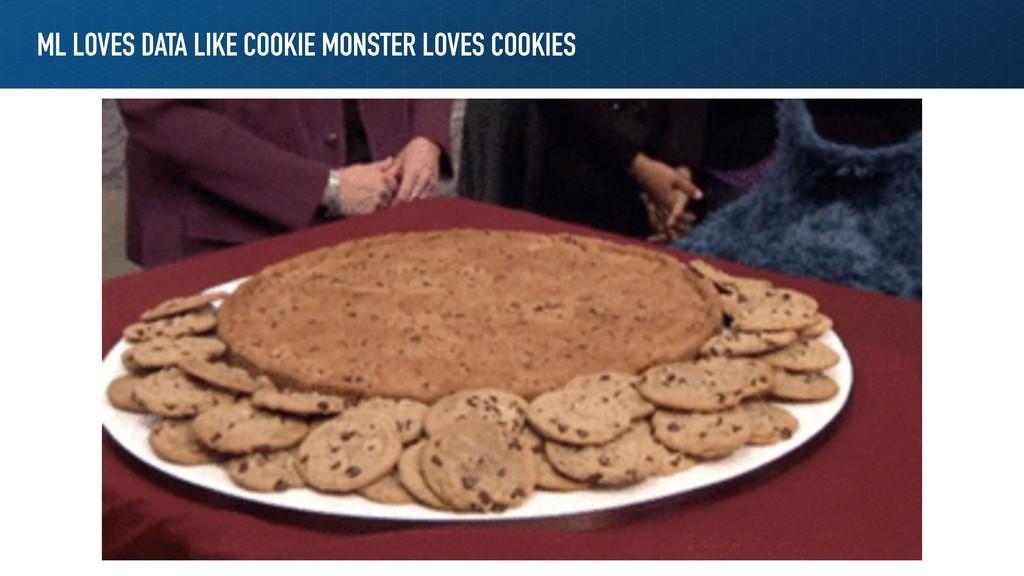 ML LOVES DATA LIKE COOKIE MONSTER LOVES COOKIES