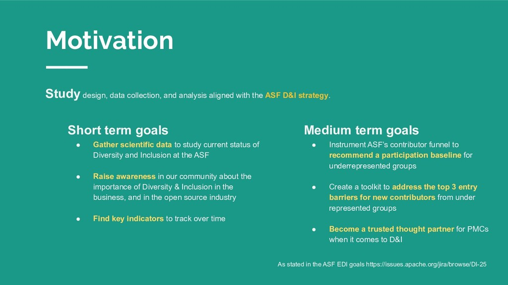Motivation Study design, data collection, and a...