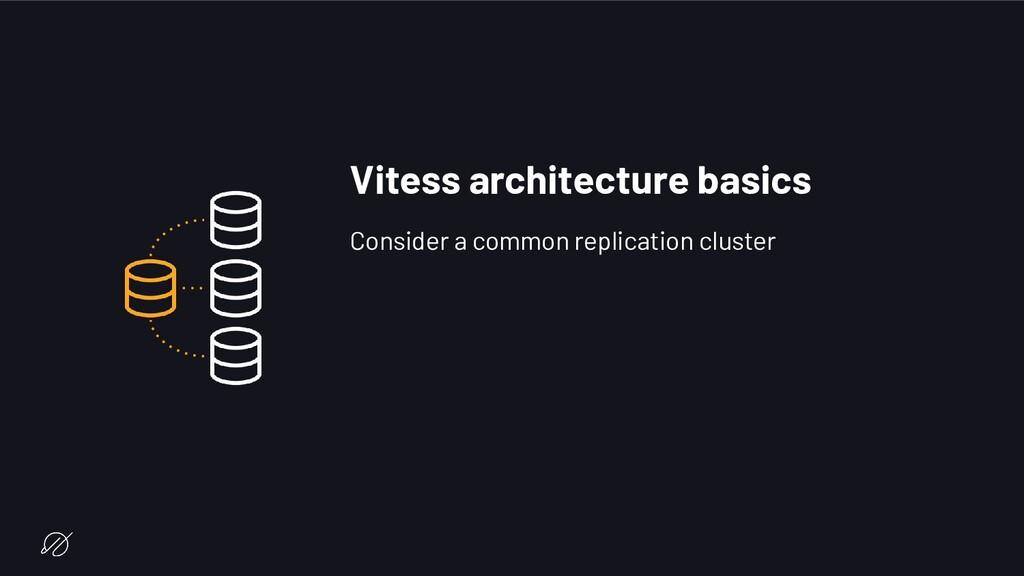 Vitess architecture basics Consider a common re...