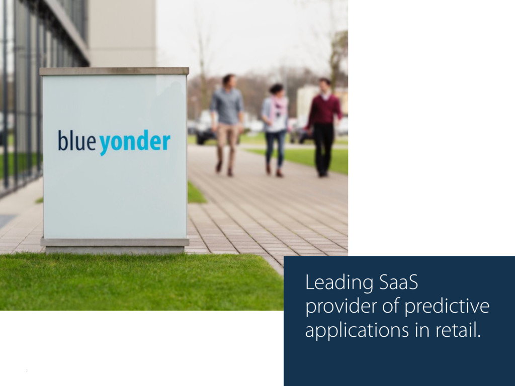Leading SaaS provider of predictive application...